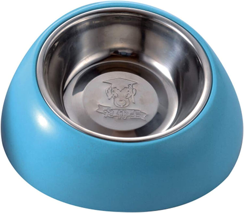 MXD Pet Supplies Dog Pot Dog Bowl Stainless Steel Pet Bowl Cat Bowl Double Bowl Large Dog Rice Bowl Large Dog Food Bowl Dog (Size   S)
