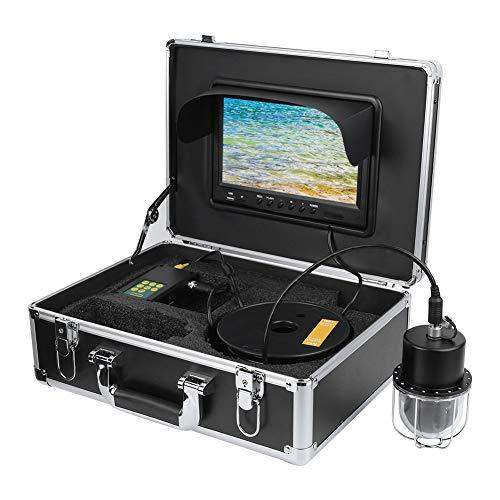 Fish Finder 100‑240V DVR Recorder IP68 20LEDs Línea impermeable Cam DVR Ocean Fishing Exploración subacuática(European regulations)