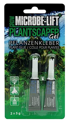 MICROBE-LIFT Plantscaper - Pflanzenkleber für Moose und Pflanzen in jedem Süßwasseraquarium, Sekundenkleber, Aquariumkleber, Aquascaping, sehr ergiebig, 2x5g