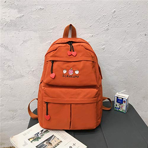 MNBVCX Backpack Women Simple Backpack Super Fire Harajuku Style Vintage Girl Bag 29X12X39Cm
