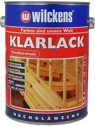 Wilckens Klarlack hochglänzend 2,5 l Lack Kunstharz-Klarlack Kunstharzlack Lackfarbe