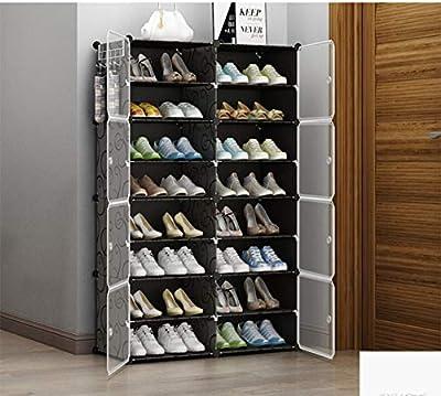 shoe rack Gabinete de Zapatos Simple/Puerta de Polvo Armario de Almacenamiento/Bastidor de múltiples Capas/Zapatero(; 44 * 32 * 65cm)