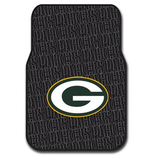 The Northwest Company Officially Licensed NFL Green Bay Packers Auto Front Floor Mat, 2-Pack