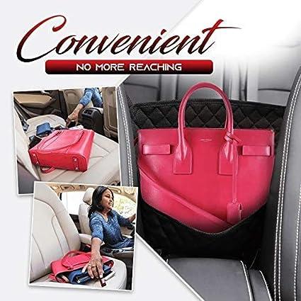 1//2PCS Car Seat Storage and Handbag Holding Net Hanging Storage Bag Between Car Seats,Barrier of Backseat Pet Kids,Cargo Tissue Purse Holder 1PCS