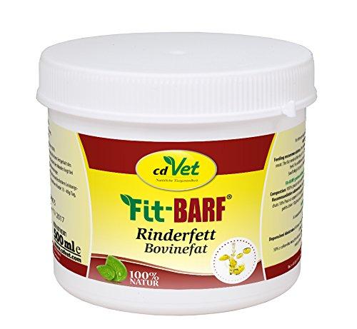cdVet Fit-BARF Rinderfett 500 ml - BARF Nahrungsergänzung mit reinem Rinderfett zur Gesundheit von Leber, Nieren, Haut und Stoffwechsel von Hunden und Katzen