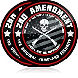 Narrow Minded Premium 2nd Amendment Stickers (2 Pack) 4 Inch Diameter Great for Your Truck or Toolbox