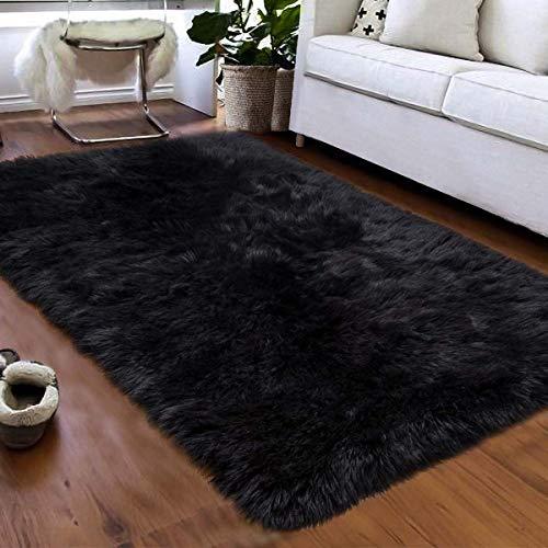 XIGG Super zacht pluizig tapijt, pluizig bont sjaal carpe, geschikt voor woonkamer en slaapkamer kinderkamer tapijten Home Decor tapijten Anti-Skid grote Fuzzy Shag