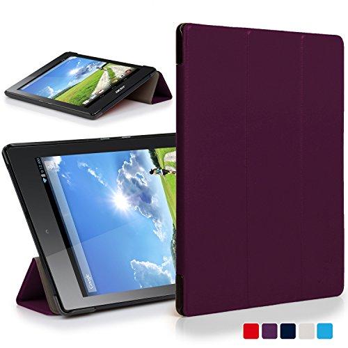 Forefront Cases® Acer Iconia One 7 B1-780 Funda Carcasa Stand Case Cover Protectora Plegable – Ultra Delgado Ligera y Protección Completa del Dispositivo (Morado)