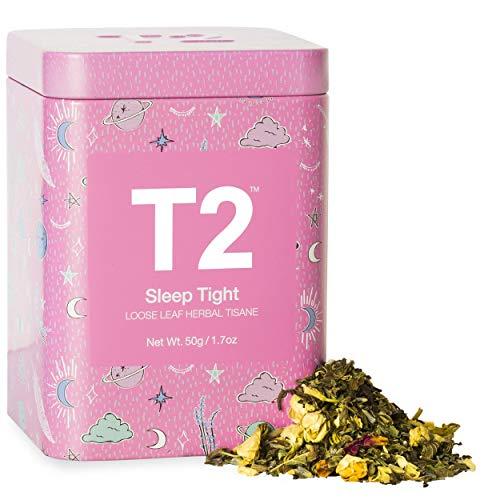 T2 Tea - Sleep Tight Herbal Tea, Loose Leaf Herbal Tea in Limited Edition Tin, 100g