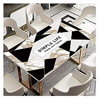 長方形 テーブルクロス 長方形保護テーブルクロスパッドコーヒーテーブル、オフィスデスク用防水PVC表カバープロテクター透明デスクマット (Color : A, Size : 70*140cm)