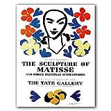 Carteles e impresiones Retro de moda de Henri Matisse retrato abstracto arte de pared lienzo sin marco para el hogar pintura en lienzo E 50x70cm