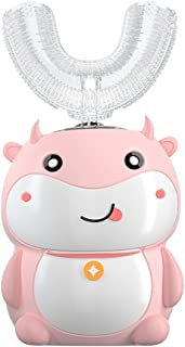 Orale Reiniging U-type elektrische softgel hoofd met siliciumdioxide borstelhoofden voor 2-14 jaar oude kinderen automatis...
