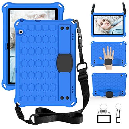 GOZOPO Funda para niños para Huawei MediaPad T5 10.1 pulgadas- Cubierta del soporte de la manija a prueba de golpes Funda Protectora Huawei MediaPad T5 (10.1 ') - Azul