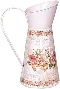 Blancho Bedding Vase décoratif en Fer Motif Floral Rose