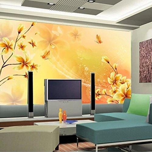 Wongxl Die Warme Farbige Sofas Schlafzimmer Hintergrund Wandmalerei Lilie Modernen Minimalistischen Wohnzimmer Tv Wandtapete 3D Tapete Hintergrundbild Fresko Wandmalerei Wallpaper Mural 350cmX300cm