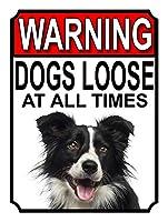 警告犬はいつでもルーズティンサイン装飾ヴィンテージ壁金属プラークカフェバー映画ギフト結婚式誕生日警告のためのレトロな鉄の絵