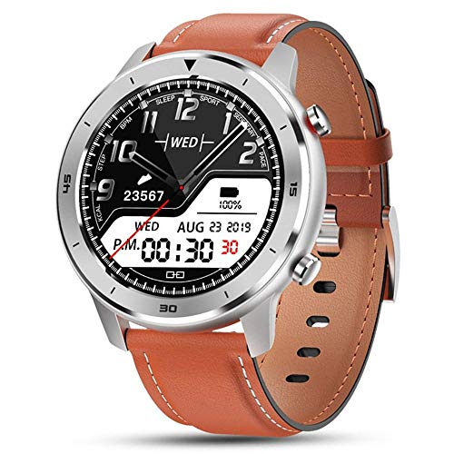 applemi Smartwatch per Uomo,Ip68 Impermeabile, Fitness Tracker Bluetooth con Notifica di Chiamata SMS Monitor della Frequenza Cardiaca Sonno Compatibile con Android e iOS-a-E
