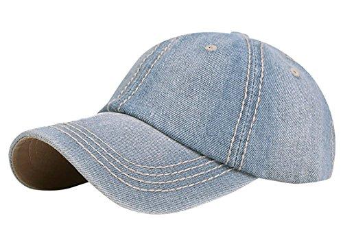 Aivtalk - Sombrero Visera de Vaquero Color Sólido Ajustable de Sombre