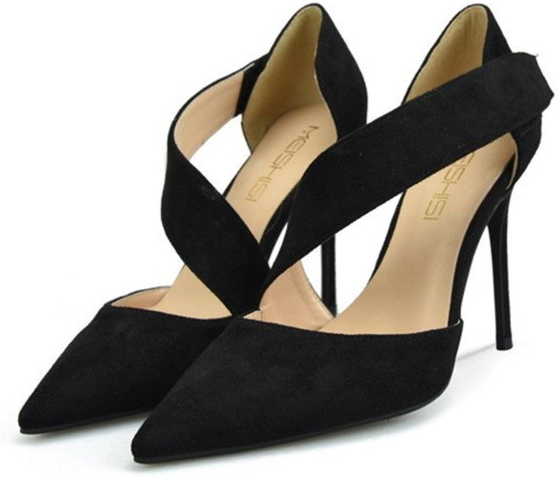 CCBubble High Heels Suede Women Sandals Party Stiletto Women shoes