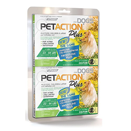 PetAction Plus for Dogs, 6 Doses Medium Dogs 23-44 Lbs.
