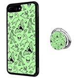 Hynina Phone Case and Phone Ring Buckle Compatible for iPhone 7 Plus 8 Plus - Adorable Dolphins (Mythical and Mysterious Creature)