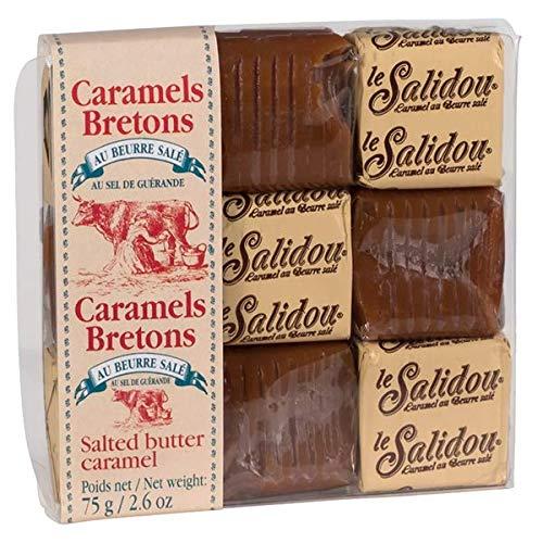 Bretonische Karamellbonbons, gesalzenes Butterkaramell, weich, mit Meersalz, Süßigkeiten, La Maison D´Armorine, 75 g