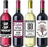 Sterling James Co. Paquete de Etiquetas del cumpleaños número 80 Chic - Suministros, Ideas y Decoraciones para Fiestas de cumpleaños - Regalos de cumpleaños Divertidos para Mujeres