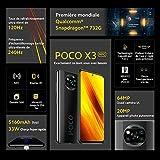 Poco X3 NFC - Smartphone Débloqué 4G (6,67 Pouces - 6Go RAM - 128Go Stockage, 5160mAh, Quad...