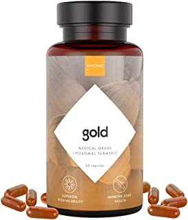 SYNCHRO Gold Medical-Grade Liposomal Turmeric | 60ct Capsules | Whole-Plant Extract, Nano-Encapsulation Delivery | Curcumi...