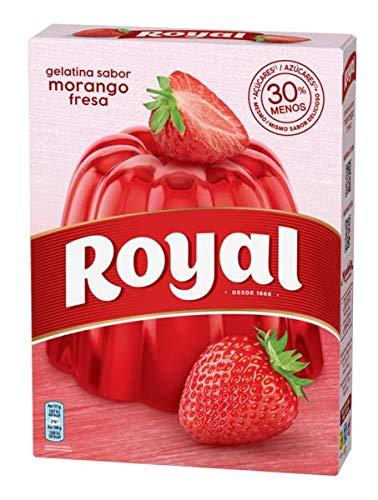 Royal - Gelatina en Polvo Sabor Fresa con Vitamina C, 30% Menos Azúcares - 10 Raciones, 114 g