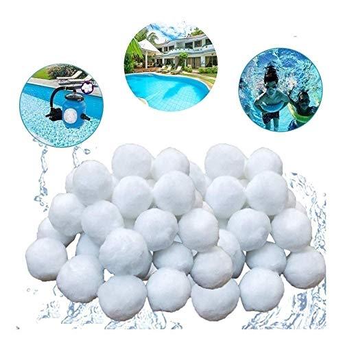 Pool Filterbälle, Filter Balls 700g ersetzen 25kg Filtersand/Quarzsand, Poolzubehör Pool Reinigung for Sandfilteranlagen, Poolfilter for Kristallklares Wasser, entfernt feinste Schmutzteilchen