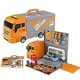 AMITAS 36 Teiliges Werkzeugkoffer Kinder Autowerkstatt Spielzeug inklusive Auto -
