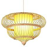 wangch Lámpara colgante de linterna de bambú Lámpara colgante de estilo...