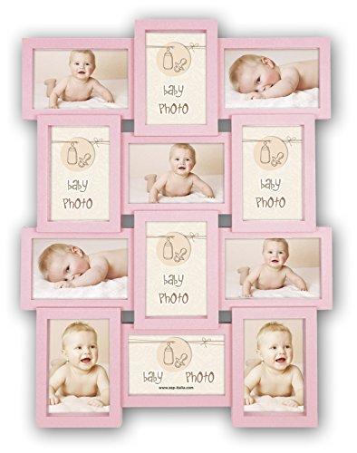 ZEP Rita - Portafotos múltiple Infantil, Color Rosa