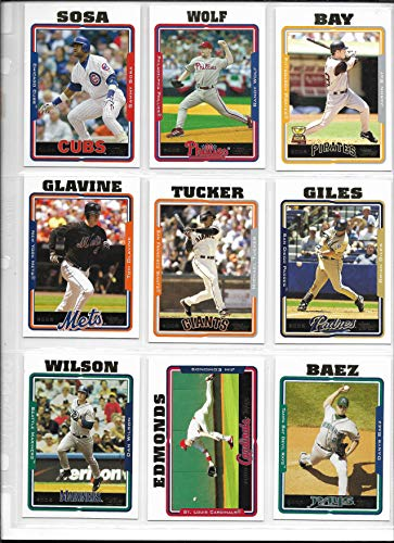 2005 Topps Baseball Complete 734 Card Set In Sheets & Binders PLUS