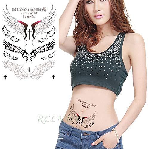 Zhuhuimin 5 stks Waterdichte tattoo sticker heilige vleugels engel tattoo sticker tattoo meisje dame