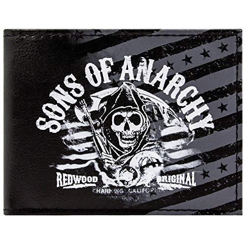 Fox Sons of Anarchy Redwood Schwarz Portemonnaie Geldbörse