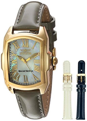 Invicta Lady Baby Lupah Interchangeable Set – Gold Plated – Mother of Pearl Dial - (Model 20457)