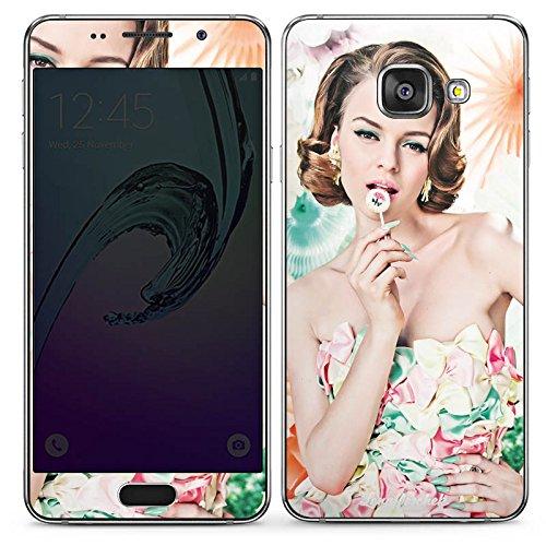 DeinDesign Samsung Galaxy A3 (2016) Folie Skin Sticker aus Vinyl-Folie Aufkleber Lena Hoschek Spring Summer Woman Frau