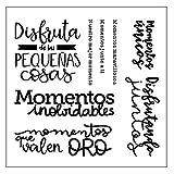 Stamp Enthusiast and Lovers 9 Designs Serie española opcional transparente con sello de silicona transparente para la creación de tarjetas