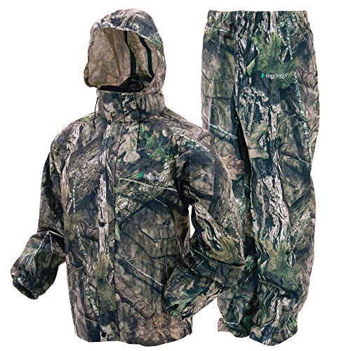 FROGG TOGGS Men's Standard Classic All-Sport Waterproof Breathable Rain Suit, Mossy Oak Break-up Country, Small