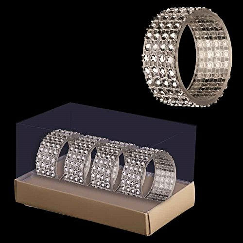 DP 4 Paquete Diamante Anillos de servilleta - Decoraciones de Navidad