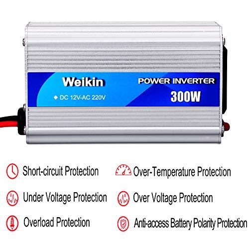 WEIKIN Power Inverter 300W inversor de energia DC 12V to AC 220V ...