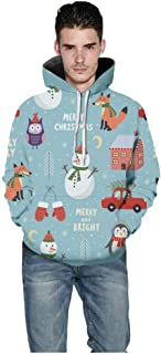 Couple Wear Mens Womens Casual Christmas Lover 3D Printing Party Hoodie Sweatshirt Long Sleeve Blouse