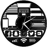 TZMR Disco de Vinilo Gadget Geek Vinilo Reloj de Pared decoración diseño decoración Mujer