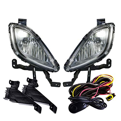 Fit 2011-2013 Hyundai Elantra Front Bumper Fog Lights Clear Includes 881 Bulbs Wiring Harness and Switch