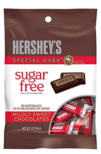 Hershey's Special Dark Chocolate Bars, Sugar Free,...