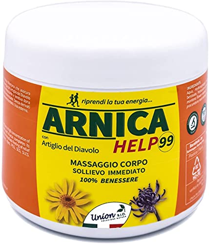Arnica Per Cavalli Uso Umano | ARNICA HELP99 500ML | Made In Italy, Gel Arnica Montana Naturale, Arnica Gel FORTE Con Artiglio Del Diavolo, Dermatologicamente Testata | Naturale al 100%