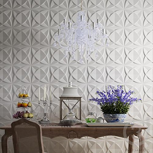 Art3d Plant Fiber Textured 3D Wall Panels for Interior Wall Decor, 33 Tiles 32 Sq Ft