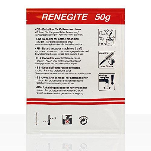 Bravilor Renegite-Entkalkerbeutel, geeignet für alle Kaffeemaschinen und Wasserkocher, 15 Packungen von 50 g